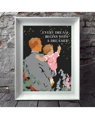 Winston Porter 'Every Dream Begins with a Dreamer' Graphic Art Print BI123597