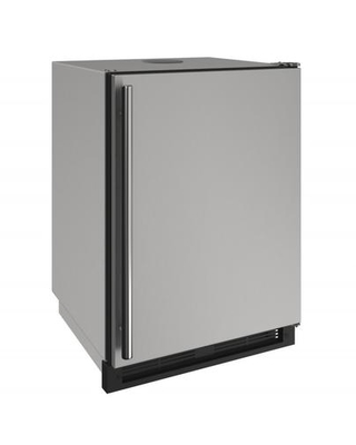 """UOKR124-SS01A 24"""" Outdoor Series Keg Refrigerator with 5.5 cu. ft. Capacity LED Lighting Convection Cooling System in Stainless"""