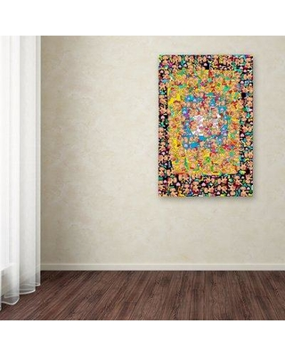 "Trademark Art 'Love Overdose' Graphic Art Print on Wrapped Canvas ALI11989-C Size: 19"" H x 12"" W x 2"" D"