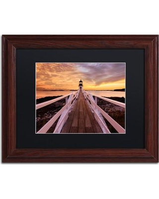 """Trademark Fine Art 'Runway to the Sky' Framed Photographic Print on Canvas ALI3852-W1 Size: 11"""" H x 14"""" W x 0.5"""" D Matte Color: Black"""