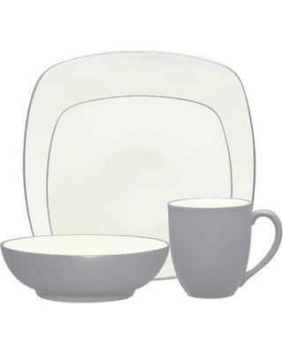 Noritake Colorwave 4 Piece Place Setting Service for 1 NTK4828 Color: Slate