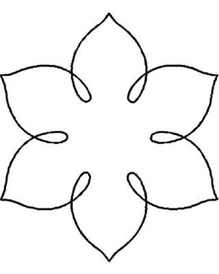 Amazing Deal Quilting Creations Simple Flower Quilt Stencil