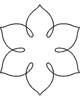 Quilting Creations Simple Flower Quilt Stencil