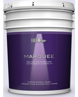 BEHR MARQUEE 5 gal. #M550-1 White Lavender Eggshell Enamel Interior Paint and Primer in One