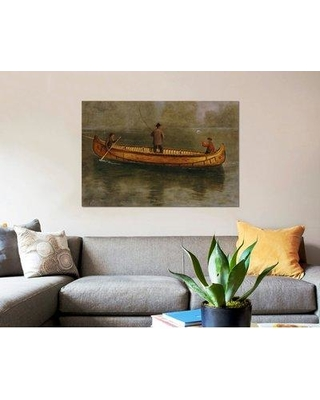 "East Urban Home 'Fishing from a Canoe' Print on Canvas ERBR0775 Size: 18"" H x 26"" W x 0.75"" D"