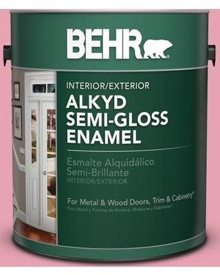 BEHR 1 gal. #P140-3 Love At First Sight Urethane Alkyd Semi-Gloss Enamel Interior/Exterior Paint