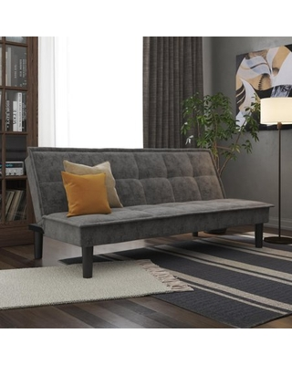 DHP Otis Upholstered Futon with Memory Foam, Multiple Positions, Gray