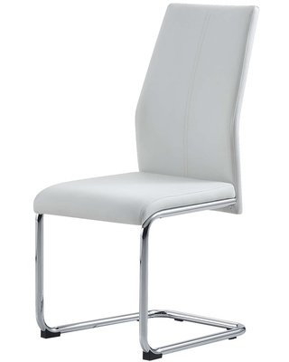Global Furniture USA 4PK White Faux Leather Dining chair (Set of 4 - Short - White)