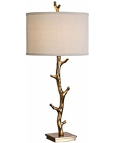 Uttermost Javor Antiqued Gold Tree Branch Metal Table Lamp