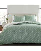 Ceres Comforter And Sham Set Twin Light Green - City Scene