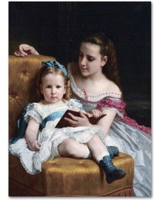 "Trademark Art 'Portrait Of Eva And Frances Johnston' Print on Wrapped Canvas AA00165-C Size: 47"" H x 35"" W"