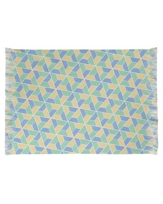 Find The Best Deals On Mcguigan Trapezoids Blue Yellow Green Area Rug East Urban Home Non Skid Pad Included No
