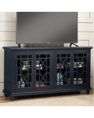 Rosecliff Heights Mainor TV Stand for TVs up to 70 inches RCLF2722 Color: Catalina Blue