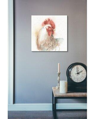 """Gracie Oaks 'Farm Friends V' Watercolor Painting Print on Canvas BF004337 Size: 26"""" H x 26"""" W"""