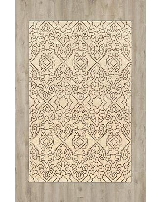 Charlton Home® Lamoille Abstract Handmade Tufted Wool Beige Area Rug DIMI3084 Rug Size: Rectangle 8' x 11'