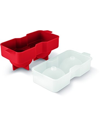 Art and Cook Sphere Ice Ball Mold, Red