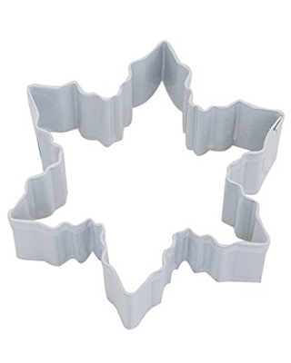 """R&M Snowflake 3"""" Cookie Cutter White With Brightly Colored, Durable, Baked-on Polyresin Finish"""