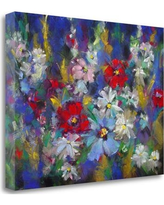 "Tangletown Fine Art 'Red White and Bloom' Print on Wrapped Canvas ICK2302D-2317c Size: 24"" H x 32"" W"