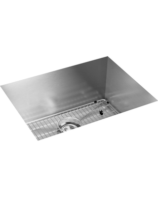 Elkay Elkay Crosstown Undermount Stainless Steel 24 in. Single Bowl Kitchen  Sink with Bottom Grid and Drain, Silver from Home Depot | BHG.com Shop