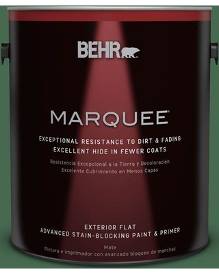 BEHR MARQUEE 1 gal. #M410-7 Perennial Green Flat Exterior Paint and Primer in One