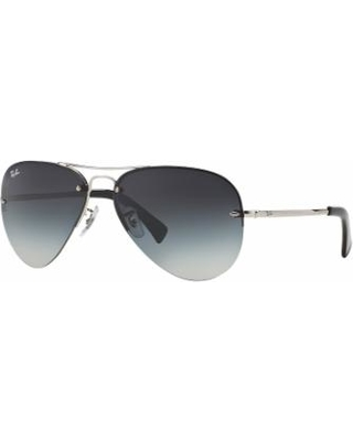 Ray-Ban Highstreet RB3449 59mm Aviator Gradient Sunglasses, Adult Unisex, Light Grey