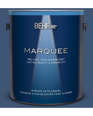 BEHR MARQUEE 1 gal. Home Decorators Collection #HDC-CL-26 Champlain Blue Satin Enamel Interior Paint & Primer
