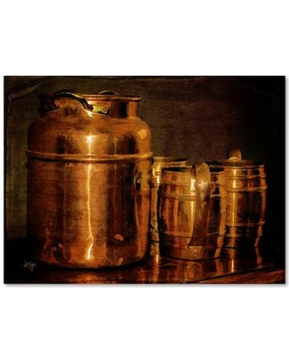 """Trademark Art """"Copper Jugs"""" by Lois Bryan Photographic Print on Wrapped Canvas LBr0215-C Size: 14"""" H x 19"""" W x 2"""" D"""