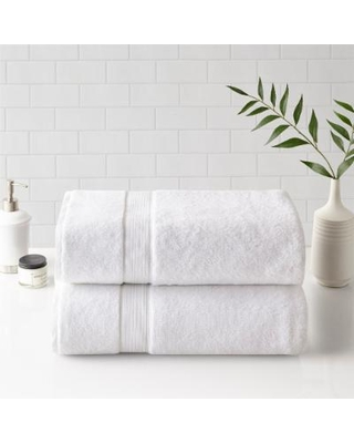"""Madison Park Signature 34x68"" 100% Cotton Bath Sheet 2-Pc Set - Olliix MPS73-432"""