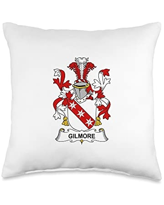 Family Crest and Coat of Arms clothes and gifts Gilmore Coat of Arms - Family Crest Throw Pillow, 16x16, Multicolor