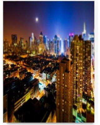 """Trademark Art 'Times Square Manhattan' Photographic Print on Wrapped Canvas PH01294-C Size: 32"""" H x 24"""" W"""