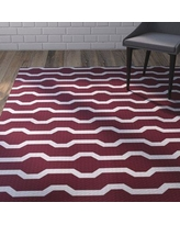 Wrought Studio Uresti Decorative Holiday Geometric Print Indoor/Outdoor Rug Cranberry Burgundy Indoor/Outdoor Area Rug VRKG4492 Rug Size: Rectangle 3' x 5'