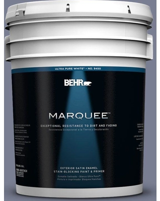 BEHR MARQUEE 5 gal. #620F-5 Majestic Mount Satin Enamel Exterior Paint and Primer in One