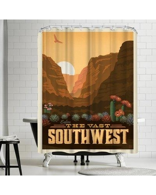 East Urban Home Macys Southwest Single Shower Curtain ETHH3209