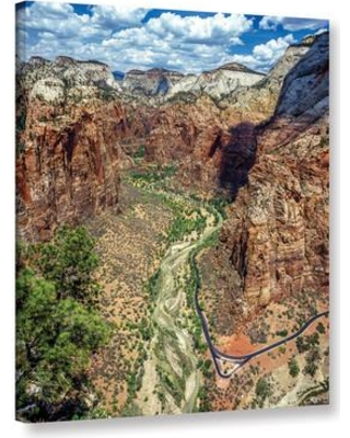 """East Urban Home 'Zion 01' Photographic Print on Wrapped Canvas ESTW5613 Size: 10"""" H x 8"""" W x 2"""" D"""