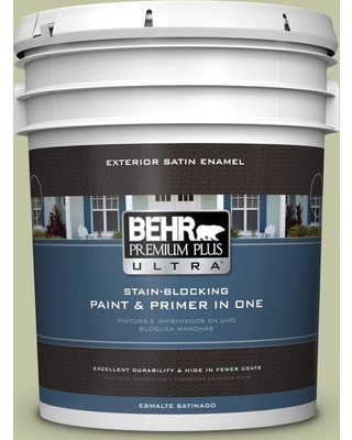 BEHR ULTRA 5 gal. #410E-3 Rejuvenate Satin Enamel Exterior Paint and Primer in One