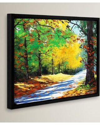 """Red Barrel Studio Vibrant Autumn Framed Painting Print on Wrapped Canvas RDBS2033 Size: 8"""" H x 10"""" W x 2"""" D"""