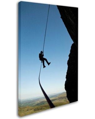 """Trademark Art 'Climber' Photographic Print on Wrapped Canvas ALI19331-C Size: 24"""" H x 16"""" W"""
