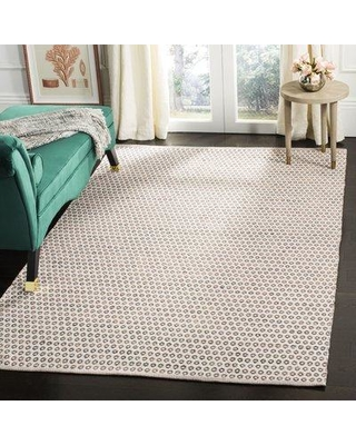 Highland Dunes Church Street Handwoven Cotton Ivory/Brown Area Rug HIDN2976 Rug Size: Rectangle 5' x 8'