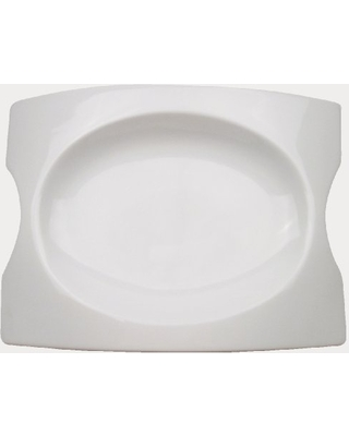 CAC China FSB-14 Fashion Bridge 14-Inch by 10-Inch by 1-3/4-Inch Super White Porcelain Platter, Box of 4