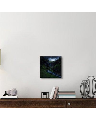 "East Urban Home 'Kvernufoss' Photographic Print On Wrapped Canvas ERNH2745 Size: 18"" H x 18"" W x 1.5"" D"