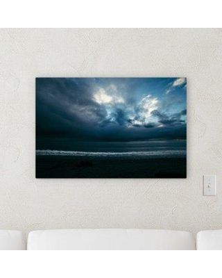 """Ebern Designs 'Storms' Photographic Print on Wrapped Canvas CJ179882 Size: 16"""" H x 32"""" W x 2"""" D"""