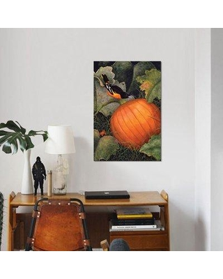 "East Urban Home 'Oriole & Pumpkin' Graphic Art Print on Canvas ESUI1985 Size: 18"" H x 12"" W x 0.75"" D"