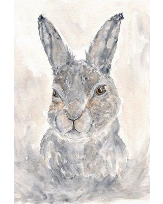"""Marmont Hill 'Misty Rabbit' by Thimble Sparrow Painting Print on Wrapped Canvas MH-THISPA-19-C- Size: 30"""" H x 20"""" W x 1.5"""" D"""