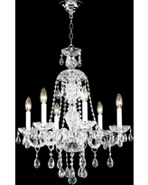 """James R. Moder 24"""" Wide Palace Ice 6-Light Chandelier"""