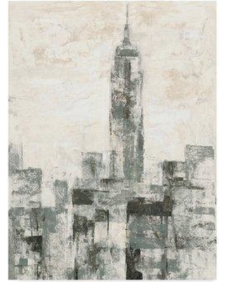 """East Urban Home 'Manhattan Neutral II Crop' Acrylic Painting Print on Wrapped Canvas W000661552 Size: 32"""" H x 24"""" W x 2"""" D"""