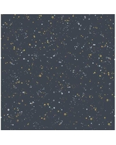 "Brayden Studio Amett Paint Splatter 32.82' L x 20.5"" W Wallpaper Roll W002539149 Color: Midnight Blue/Gold"