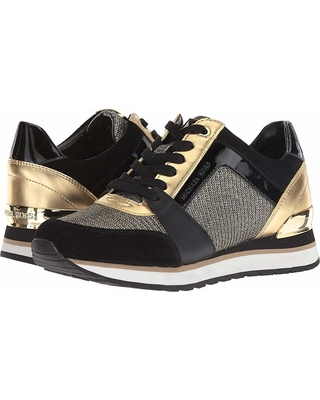 e08c3e6555c3 Spectacular Deals on MICHAEL Michael Kors Billie Trainer (Black/Gold ...
