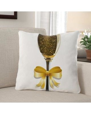 The Holiday Aisle Adilynn Champagne Indoor/Outdoor Canvas Throw Pillow X112217176
