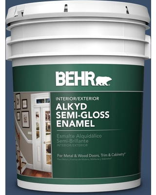 BEHR BEHR 5 gal  #M510-7 Inked Urethane Alkyd Semi-Gloss Enamel  Interior/Exterior Paint from Home Depot | BHG com Shop