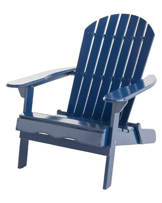 Woking Solid Wood Folding Adirondack Chair Color: Navy